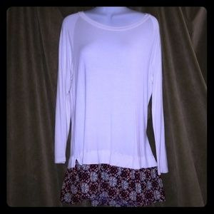 NWOT boutique bought tunic with pattern bottom